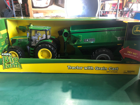JD Tractor with Grain Cart