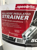 Speedrite White Bullnose Ratchet Strainer poly