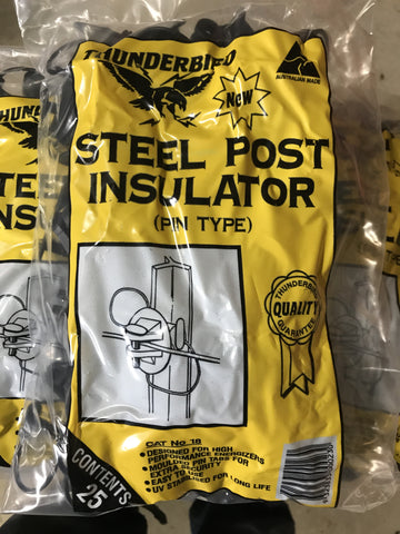Thunderbird Steel Post Insulators ( Star Post ) 25 Pack