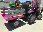JD Case Pink Tractor and Trailer