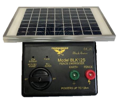 Thunderbird BLK12S Solar Electric Fence Energiser Unit