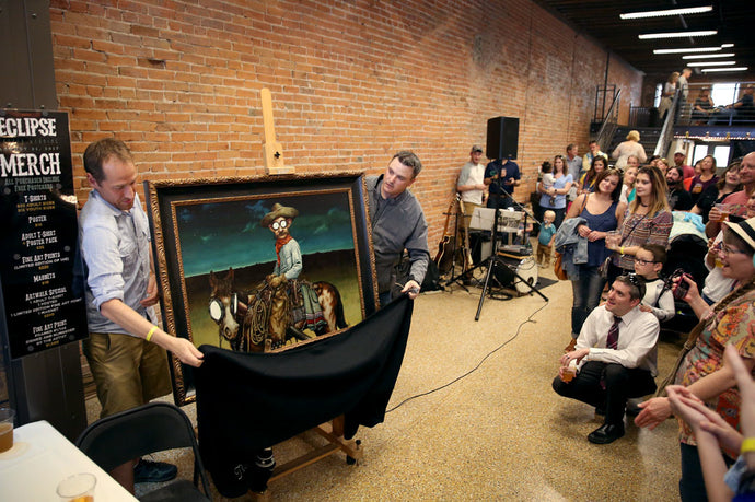 """Herdsman"" Eclipse Painting Revealed at May Art Walk"