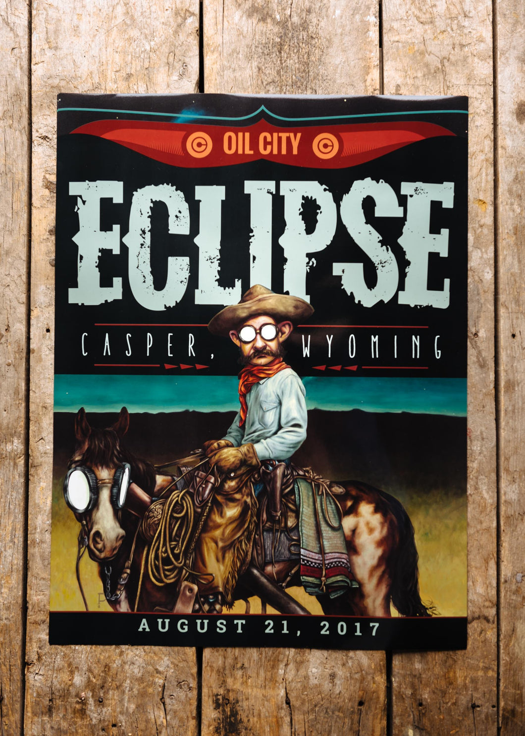 2017 Wyoming Eclipse Commemorative Poster