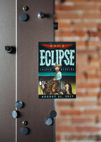 2017 Wyoming Eclipse Commemorative Magnet