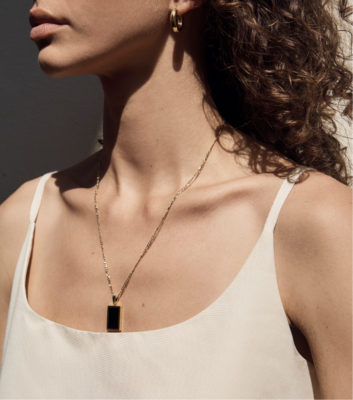 Willow Necklace - Onyx