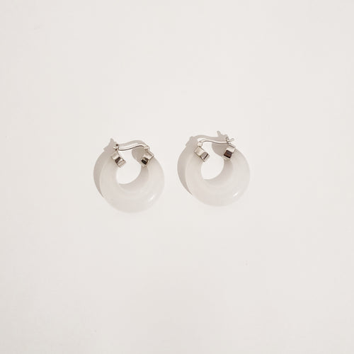 Jade Earrings - Silver