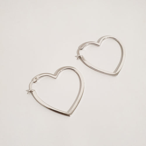 LOVE LOVE Earrings - Silver