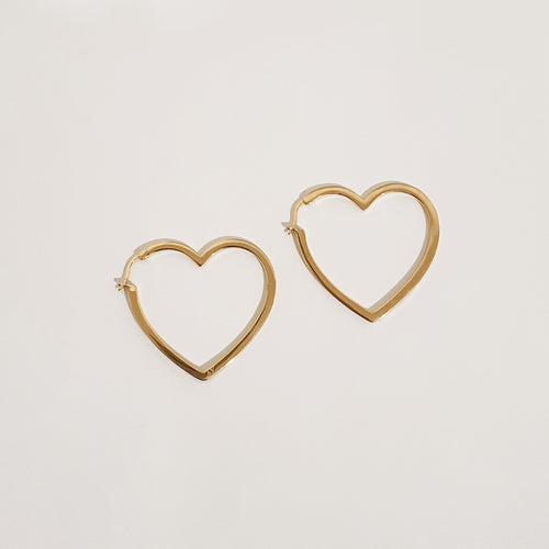 LOVE LOVE Earrings - Gold