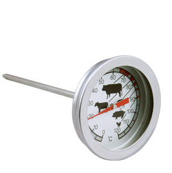 BBQ Grill Meat, Food, Hot Drinks ~ Dial Temperature Gauge Probe