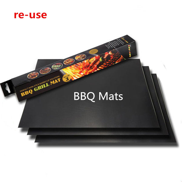 2 PCS BBQ Mat 0.2mm Thick ptfe non-stick Reusable grill foil bbq liner