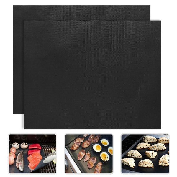 2pcs/lot 0.2mm Thick ptfe Barbecue Grill Mat 33*40cm non-stick Reusable BBQ Grill Mats Sheet Grill Foil BBQ Liner