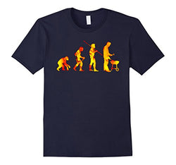 Mens 100% Cotton Humour BBQ T-Shirt ~ True Evolution of Man Fire Grill