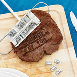 Personalised BBQ Meat Branding Metal Tool with Changeable 55 Letters