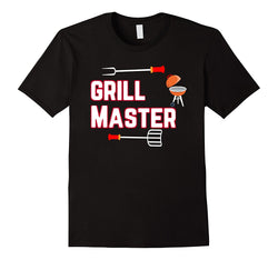 Mens Cotton Humour BBQ T-Shirt ~ Grill Master - 100% Cotton
