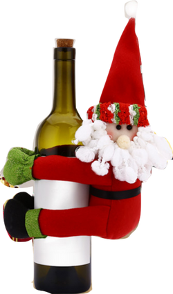 Santa Claus Snowman Home Christmas Wine Bottle Holders
