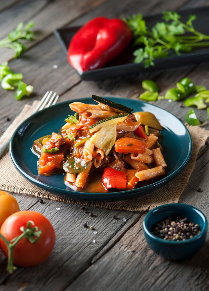 Gluten Free Penne with Vegetable Ragout