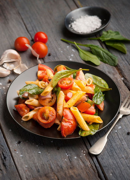 Gluten Free Penne Pasta with Rich Tomato Ragout