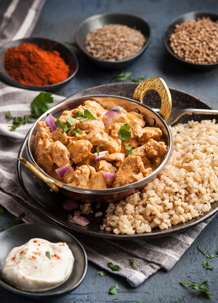 Chicken Korma with Brown Rice