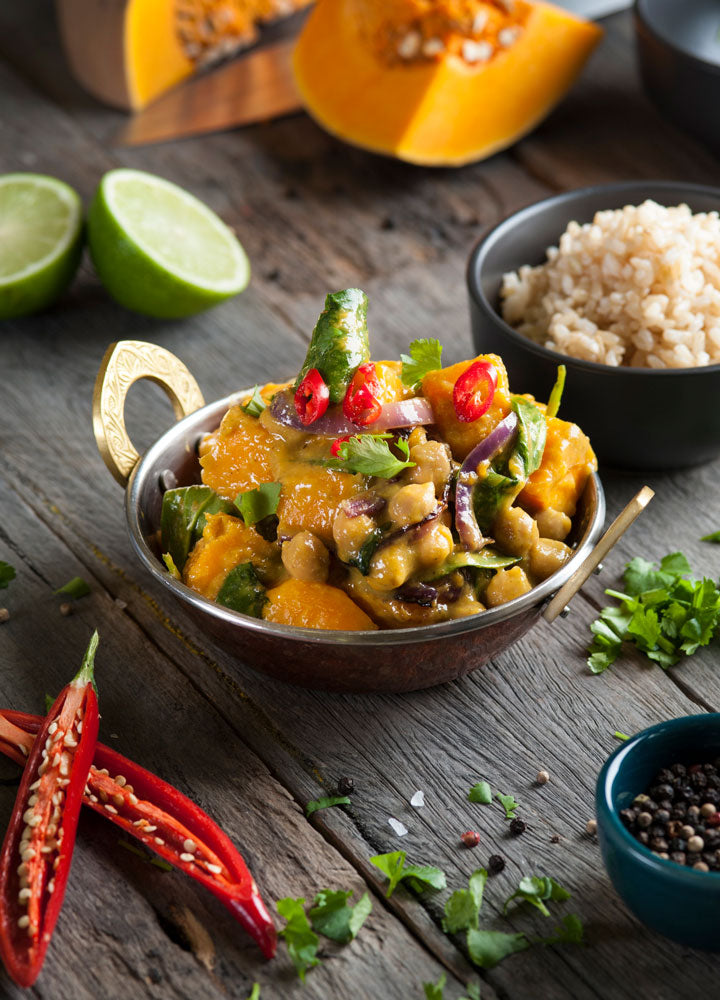 Chick Pea and Pumpkin Thai Curry with Brown Rice