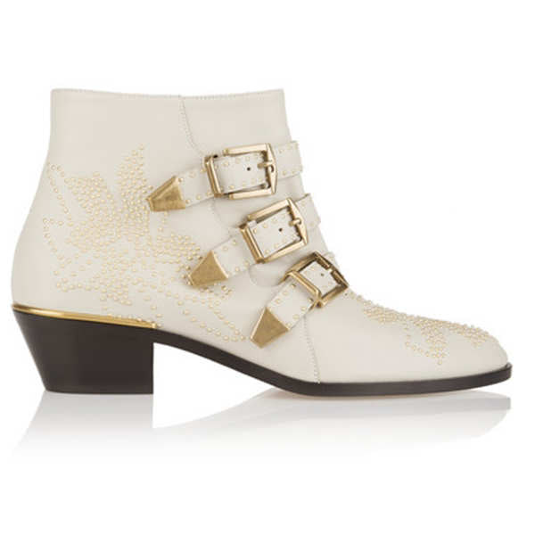 Buckle Strap chunky heel pointed toe  ankel boots