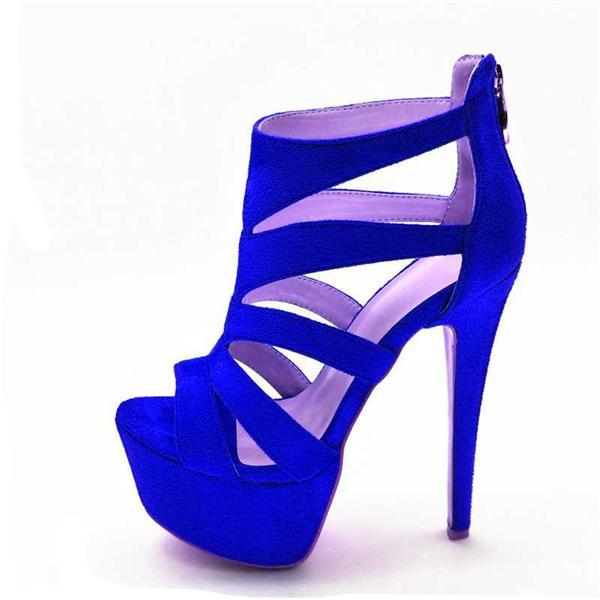 Thick Heel Pumps Open Toe Thin High Heel Shoes
