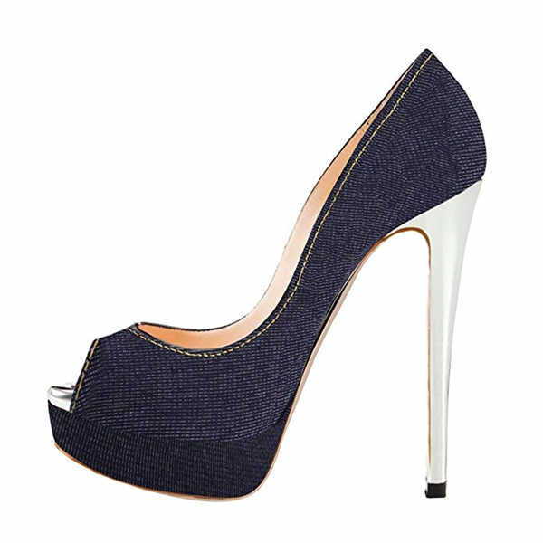 women sandals  peep toe platform thin high heel summer shoes