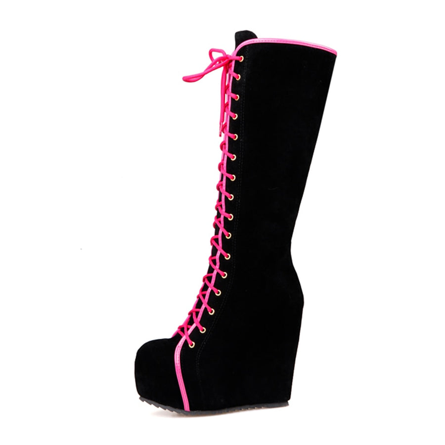 Knee High Boots   Lace Up Women Boots BONJOMARISA