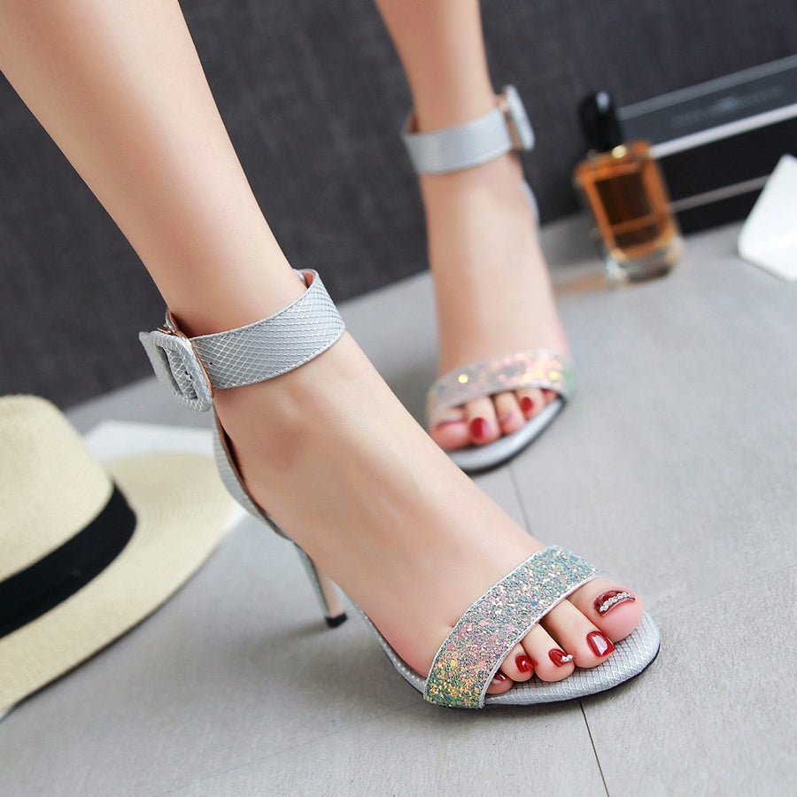 Sexy High Thin Heel Open Toe Ankle Buckle Strap Occasion Women Sandals