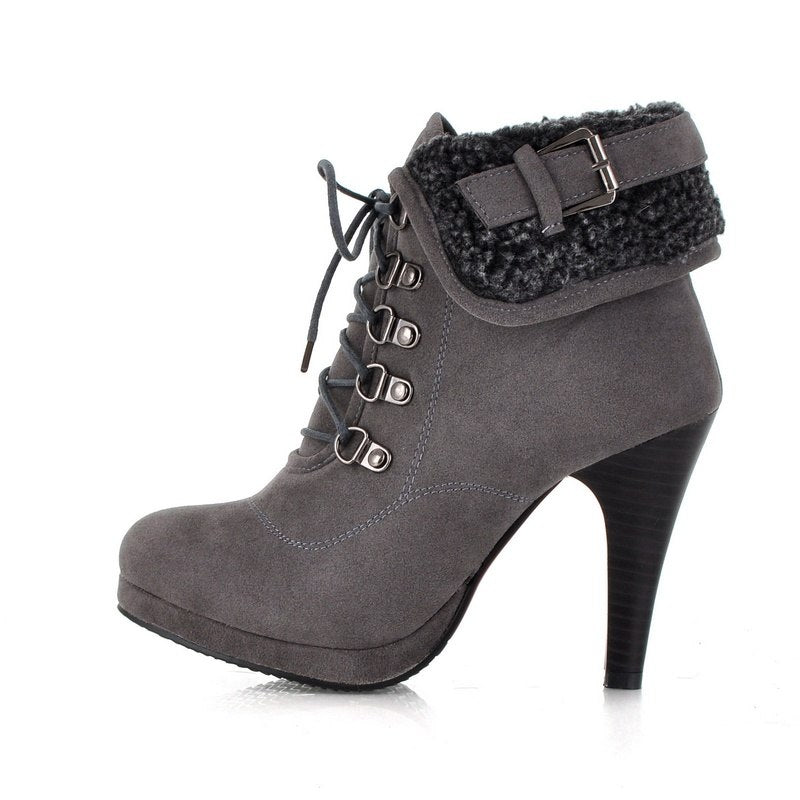 ankle boots  lace up  retro  winter shoes BonjoMarisa