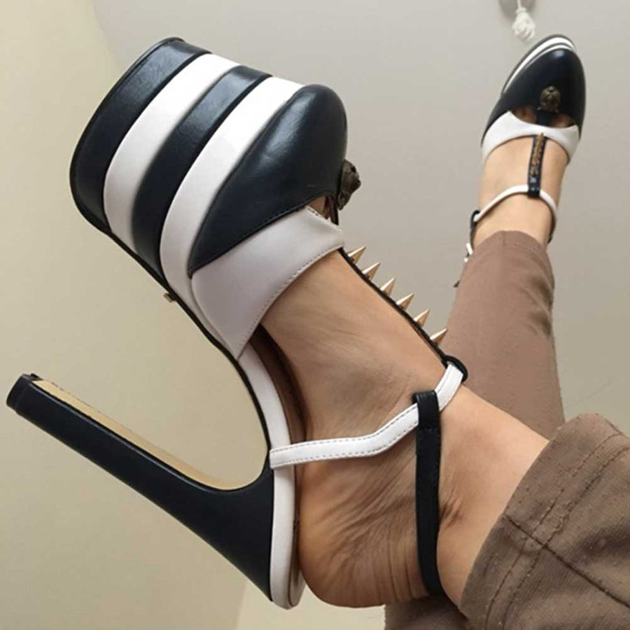 T-strap Platform High Heel Sandals Summer Shoes Woman