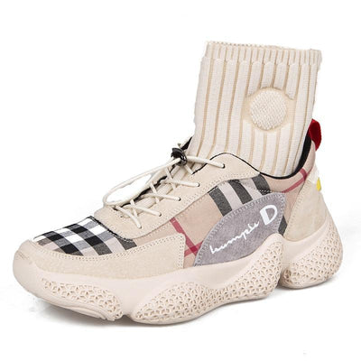 Sneakers Women Chunky Canvas Shoes Ladies Sock Shoes