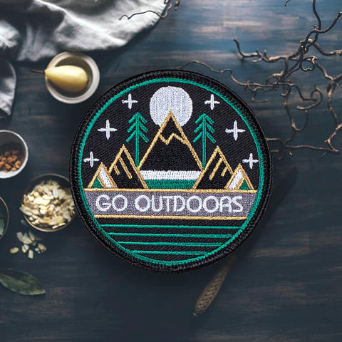 hiking patch outdoors patch vintage patch