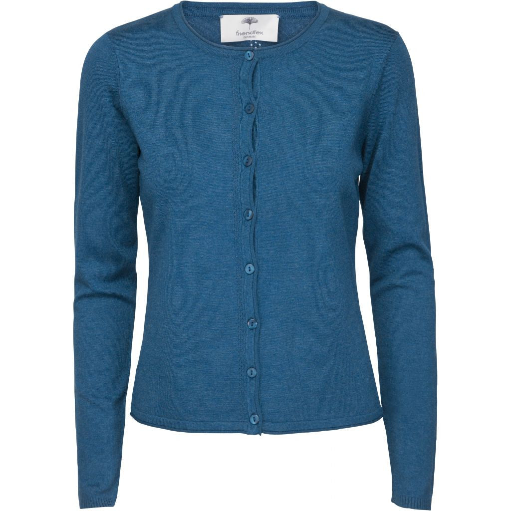 Jane knit cardigan - Petrol blue