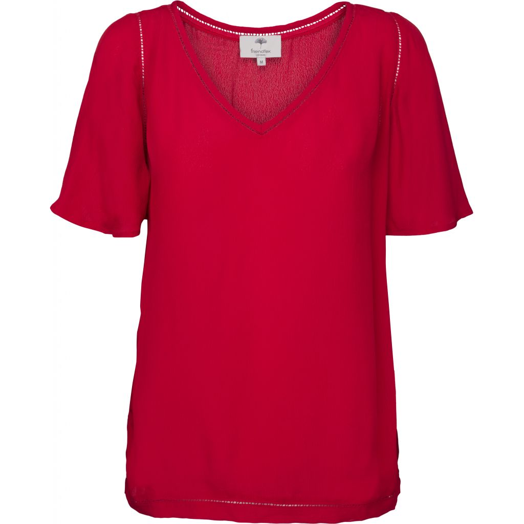 Ella blouse - True red