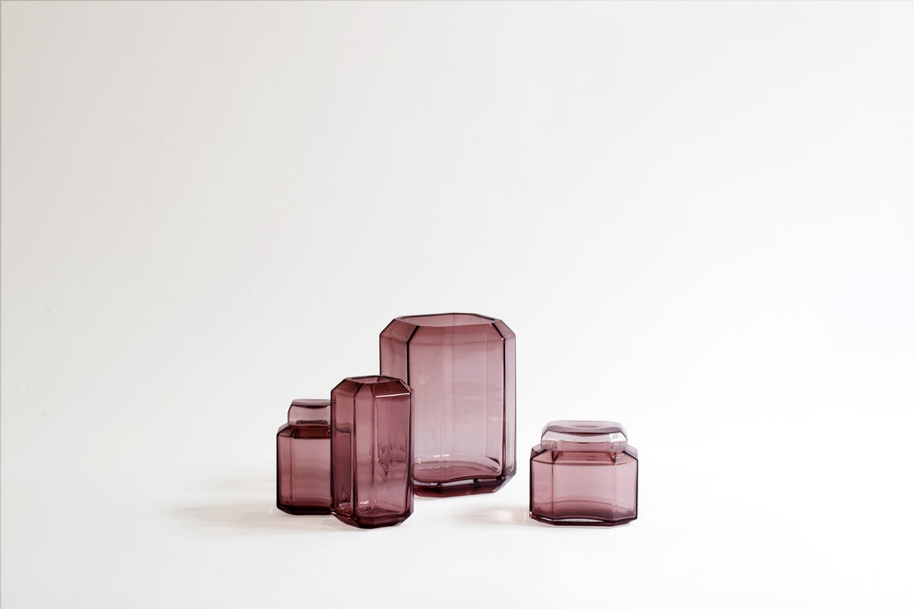 The Jewel Vase Burgundy Medium