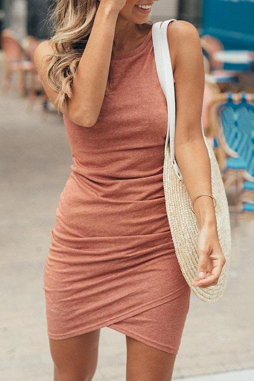 Shifting Dears Sleeveless Tank Dress