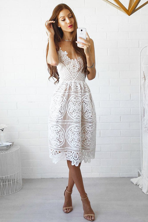 Cross Back Lace Slip Mini Dress