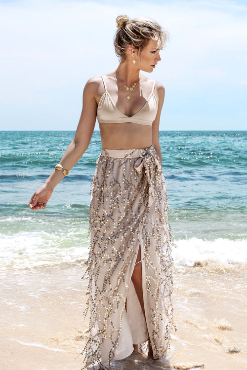 Golden Sequin Skirt