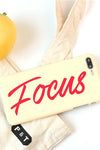 Letters 'Focus' Print IPhone Case