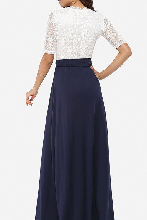 Casual Lace Spliced Dress