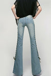 Flared  Ribbon Jeans