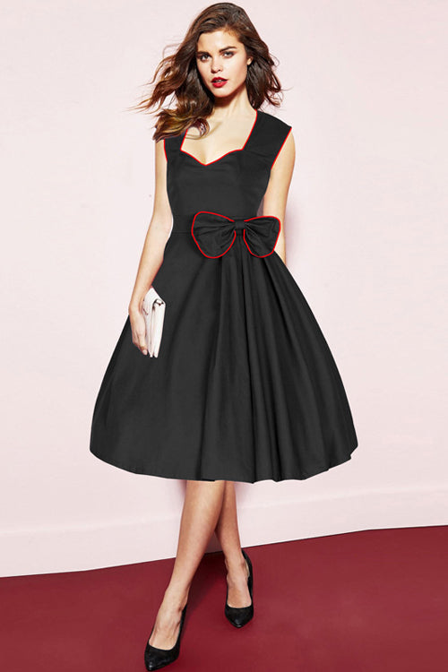 Bowknot Sleeveless Full Dress
