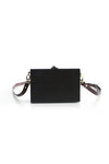 Black Rectangle Wooden Shoulder Bag