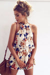 Floral Print Sleeveless Jumpsuit