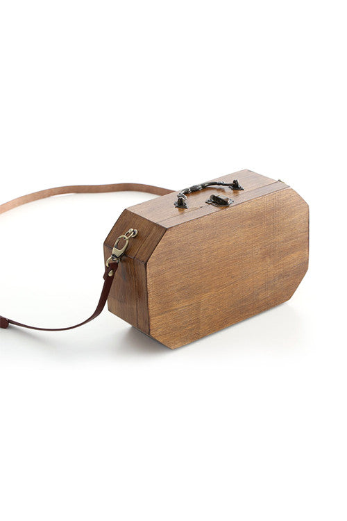 Octagon Wooden Shoulder Bag