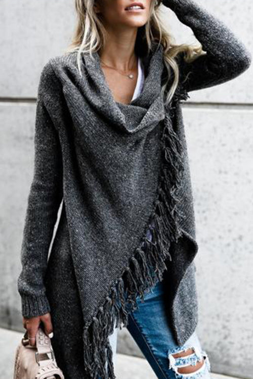 Tassel Sweater Cappa Coat