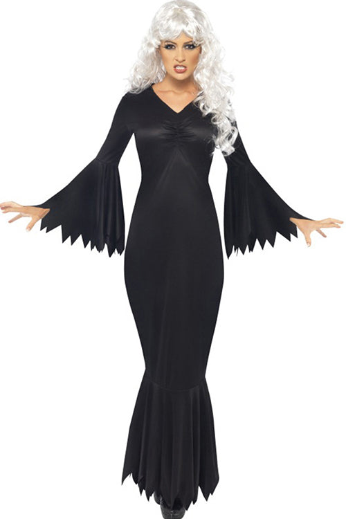 Halloween Bats Black Maxi Dress