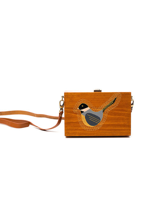 Bird Wooden Shoulder Bag