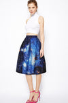 Black Galaxy Art  Skirt