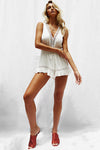 Hollow Out Plunging Neck Romper